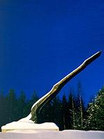 "Конец 1990-х годов. Монумент ""Пламя"". Скульптор Алвар Аалто, 1960."