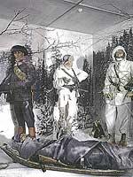 1990-е годы. Музей Raatteen Portti. Фрагмент экспозиции